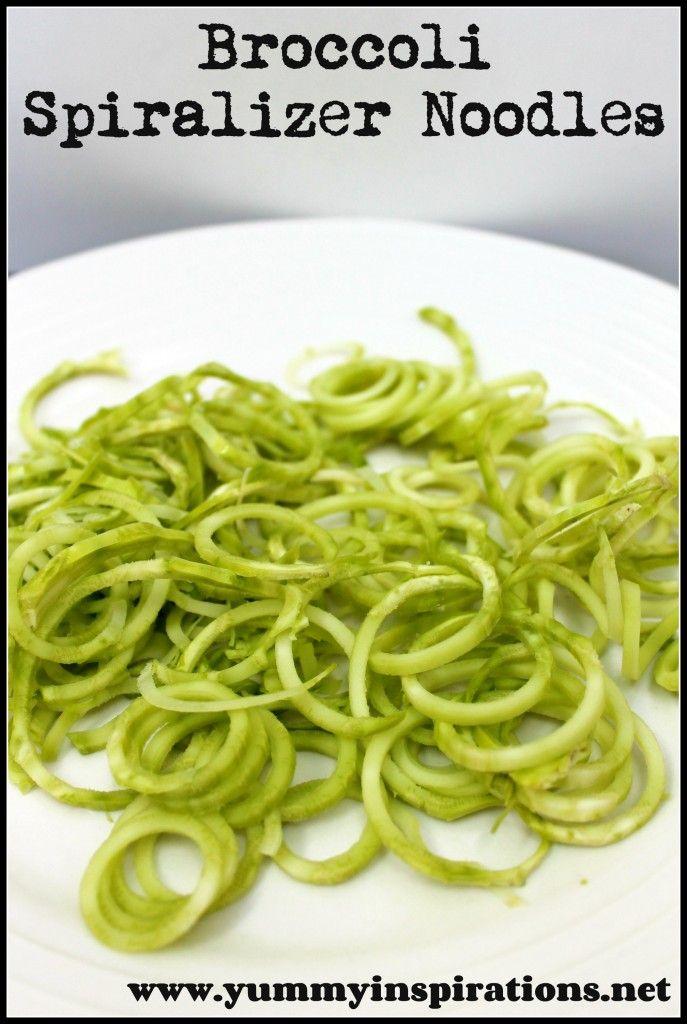 Broccoli Vegetables Spiralizer noodles recipes