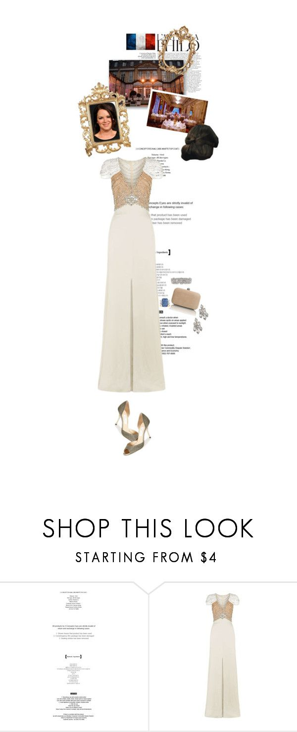 """Untitled #2602"" by duchessq ❤ liked on Polyvore featuring StyleNanda, Jenny Packham and Jimmy Choo"