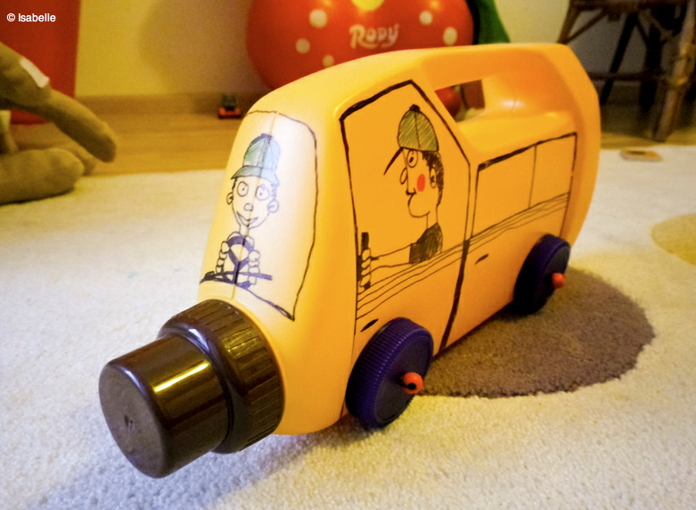 Image result for Toy Tutorials with Recycled Material Handmade toys: car made with a plastic container