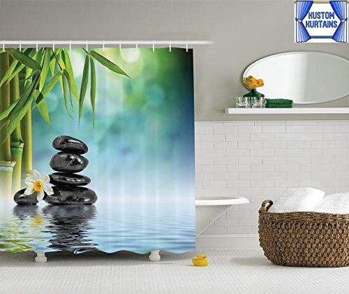 Kustom Kurtains Serenity Shower Curtain Zen Bamboo Peace Polyester