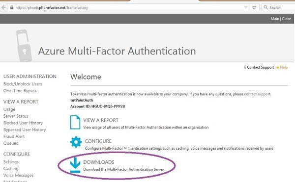 Azure MultiFactor Authentication Multi factor