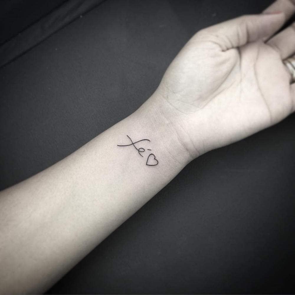 Finger Tattoos Schrift