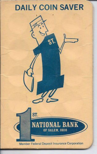 Dime Saver 1st National Bank Of Salem Ohio Member Fdic Daily Coin