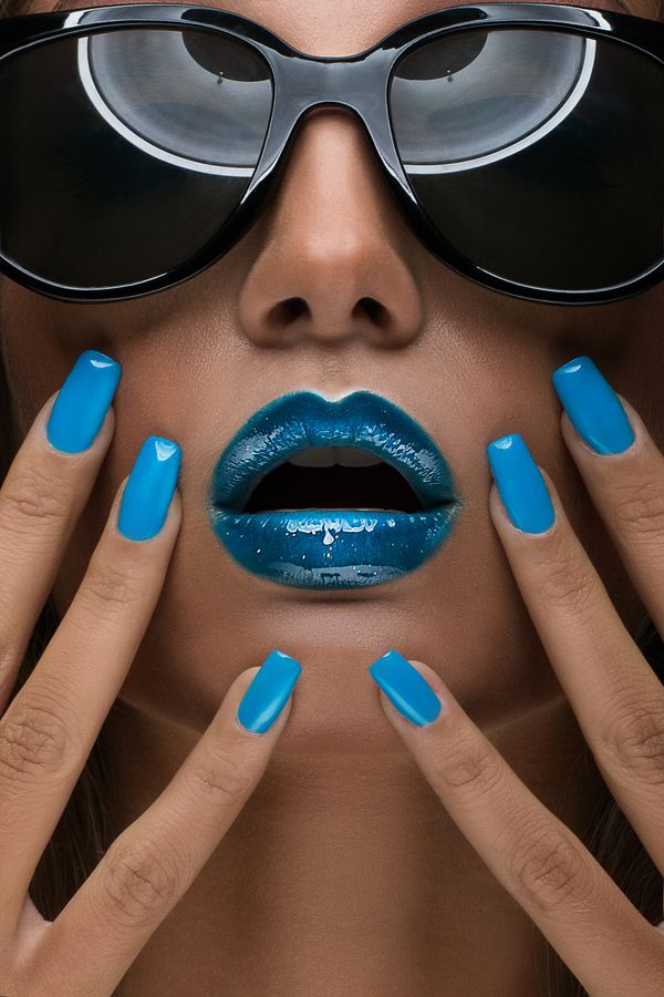 Blue Makeup Photo by Kirill Kovalev #makeup #blue #beauty