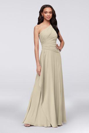 Long Pink Soft   Flowy David s Bridal Bridesmaid Dress  8d9195c05
