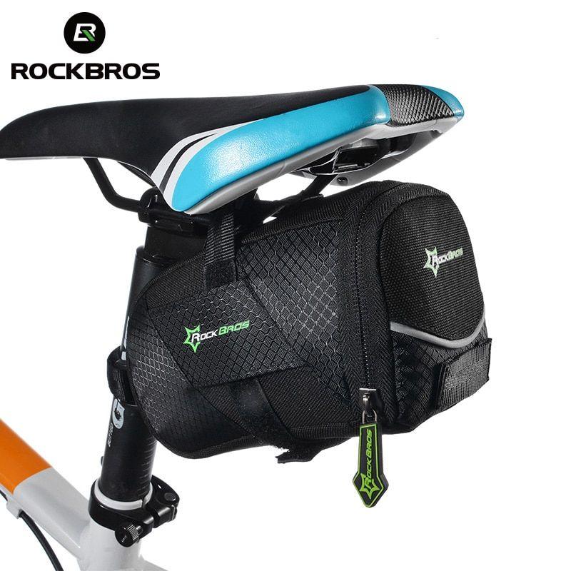 ROCKBROS Bicycle Saddle Bag Waterproof Road Bike Cycling Rear Seat Tail Pack US