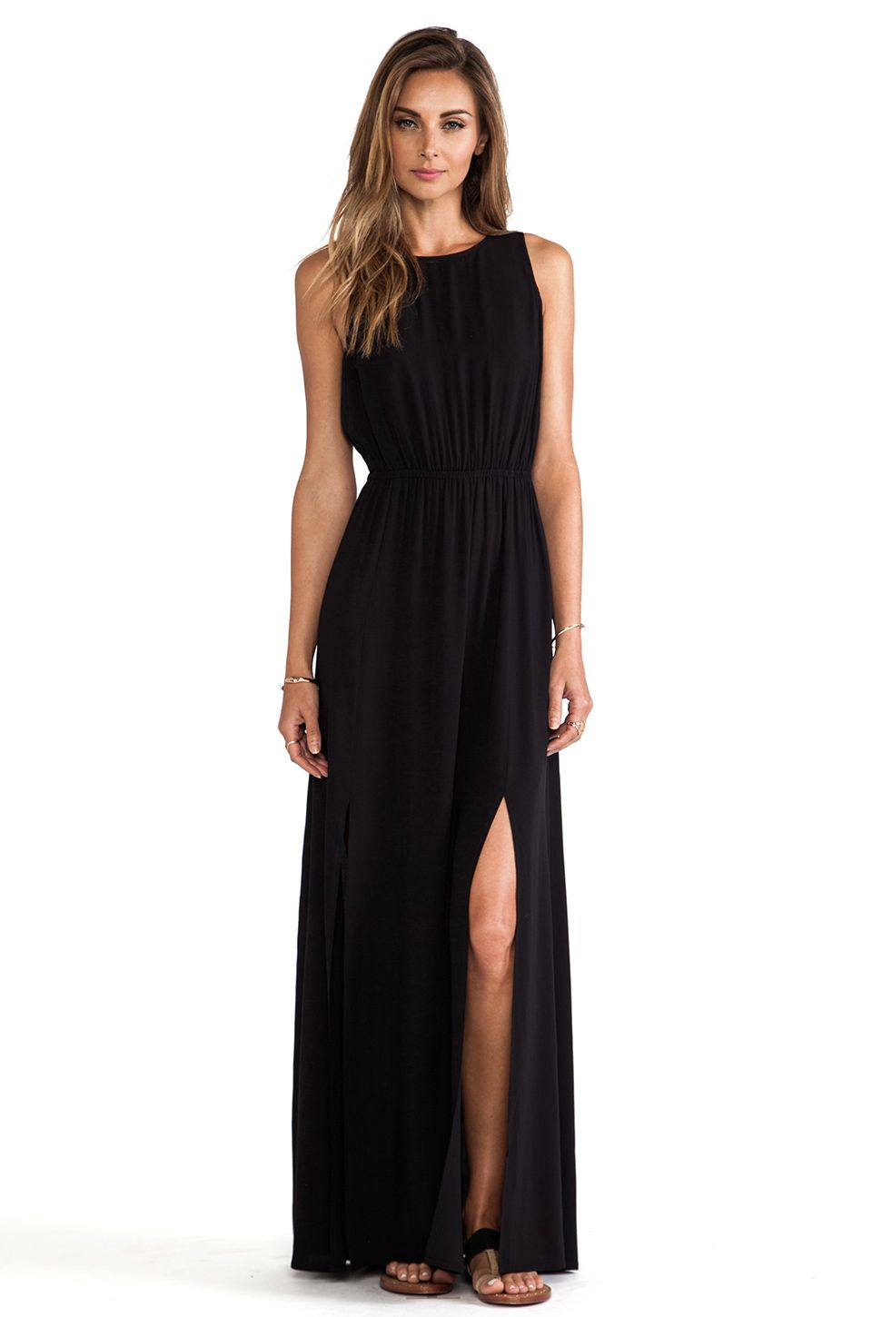 Summer black maxi dress day or evening dress revolveclothing