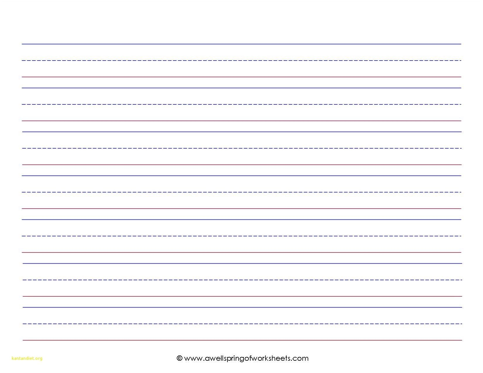 Beautiful Kindergarten Lined Paper Template Kindergarten