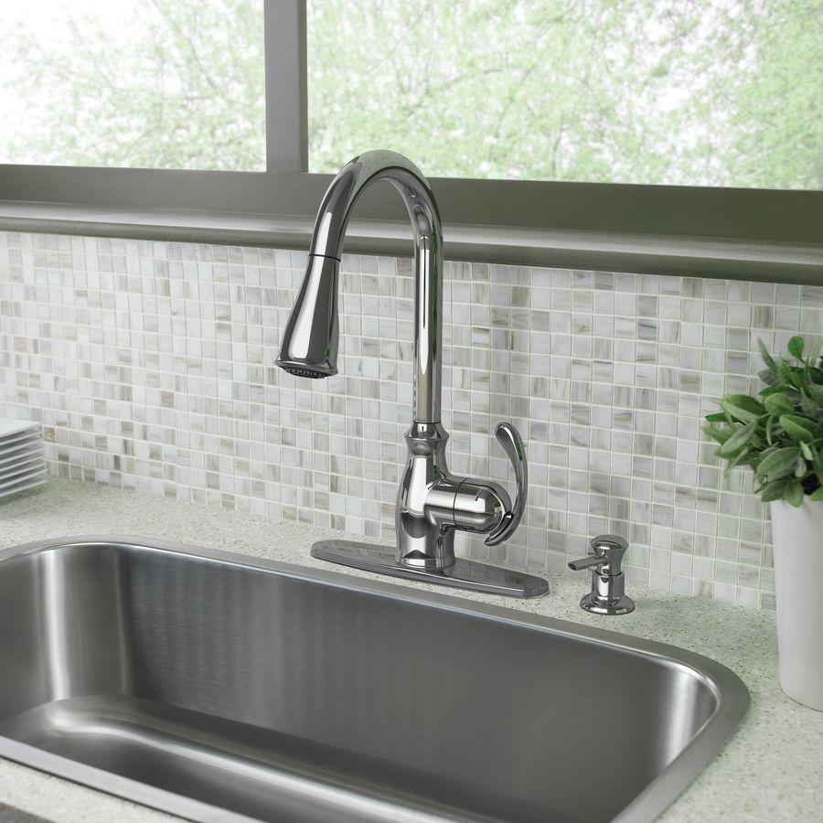 Moen Harlon Chrome One Handle Pull Down Kitchen Faucet