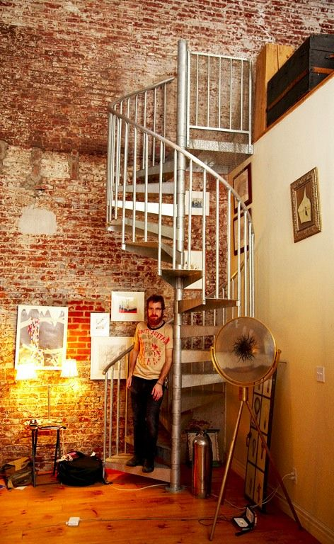 Absolutely Love Everything About This! Brick, Loft, Spiral Staircase.... Interior  Brick WallsExposed ...