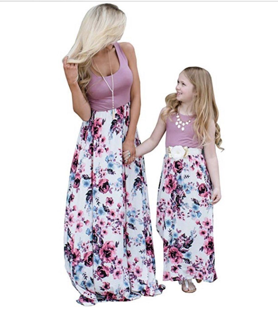b92c5f81fdfb Mommy & Me Purple Floral Dress | Mommy and Me | Floral maxi dress ...