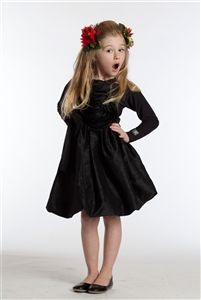 Bella Girls Party Dress in Black