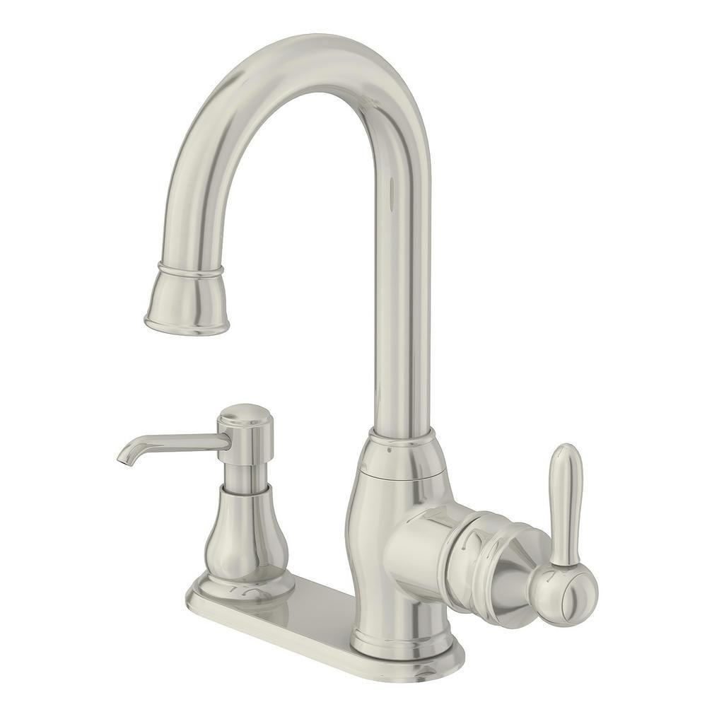 Glacier Bay Newbury Single-Handle Bar Faucet in Stainless Steel ...