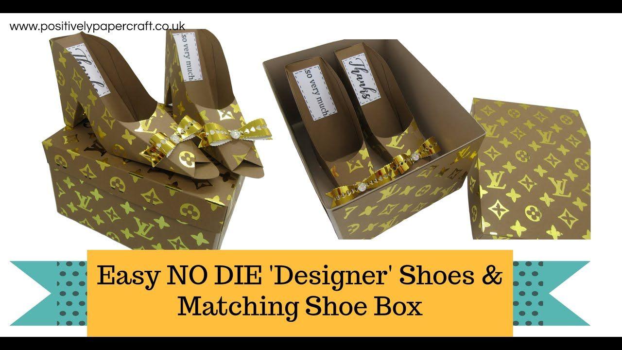 Easy no die designer shoes shoe box in 2020 paper