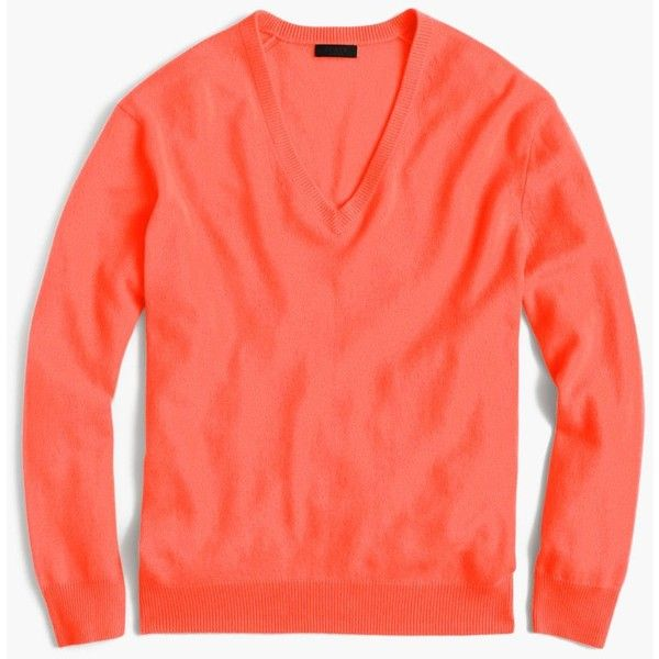 J.Crew Collection Cashmere Boyfriend V-Neck Sweater ($225) ❤ liked on Polyvore featuring tops, sweaters, j crew sweaters, red top, holiday tops, v-neck sweater and v neck sweater