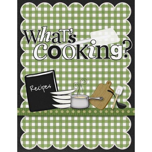 Cook Book Scrapbook Cover Scrap Booking Pinterest Scrapbook