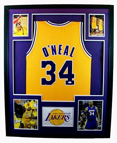 3b6eed7db4b ... Shaquille ONeal Framed Jersey Signed JSA COA Autographed Los Angeles  Lakers Shaq Mister Mancave ...