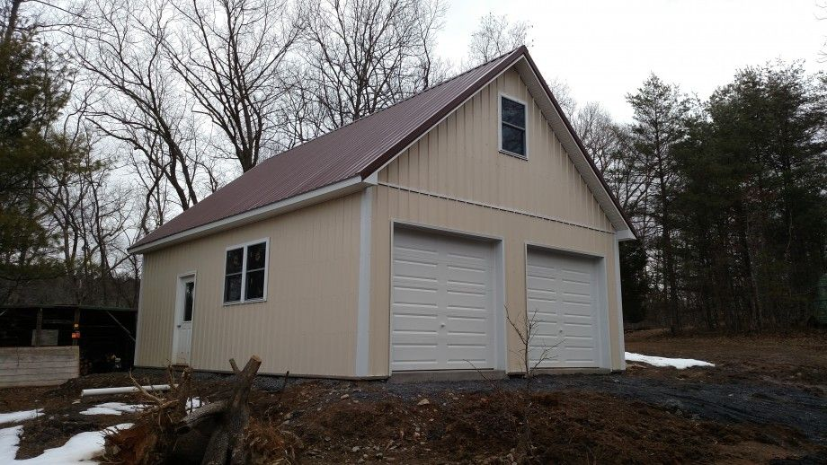 24x32x10 Residential Garage In Front Royal Va Rrv15056 Roof Styles Metal Roof Installation Roof Architecture