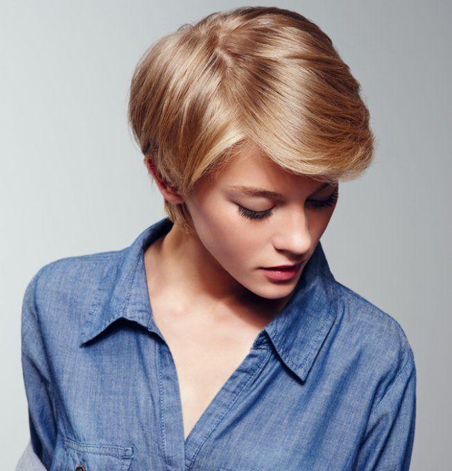 court blond avec m che coupes de cheveux pinterest m ches coiffures tendance et r f rence. Black Bedroom Furniture Sets. Home Design Ideas
