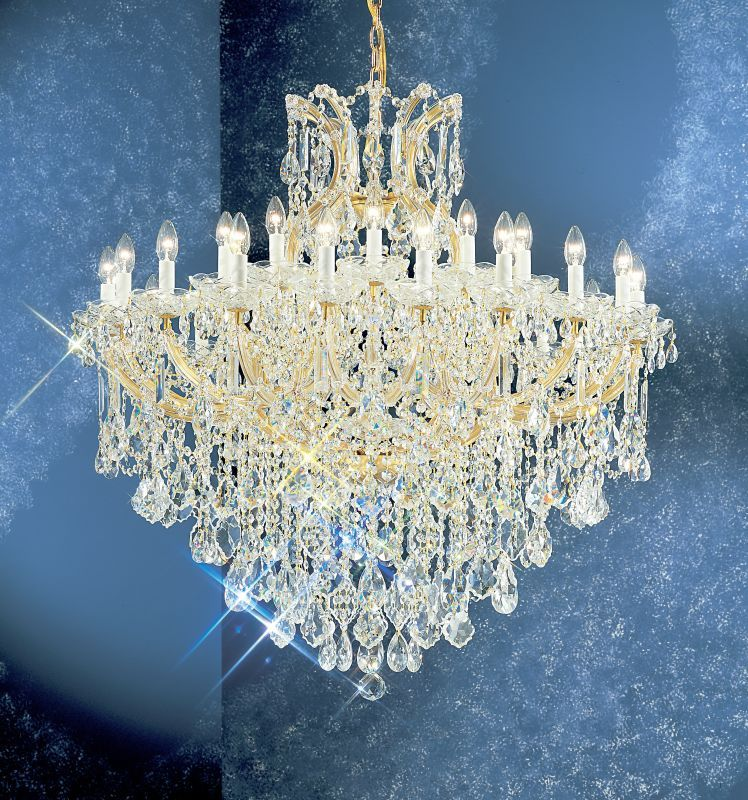 Classic Lighting 8180 OWG 44 Crystal Traditional Chandelier from