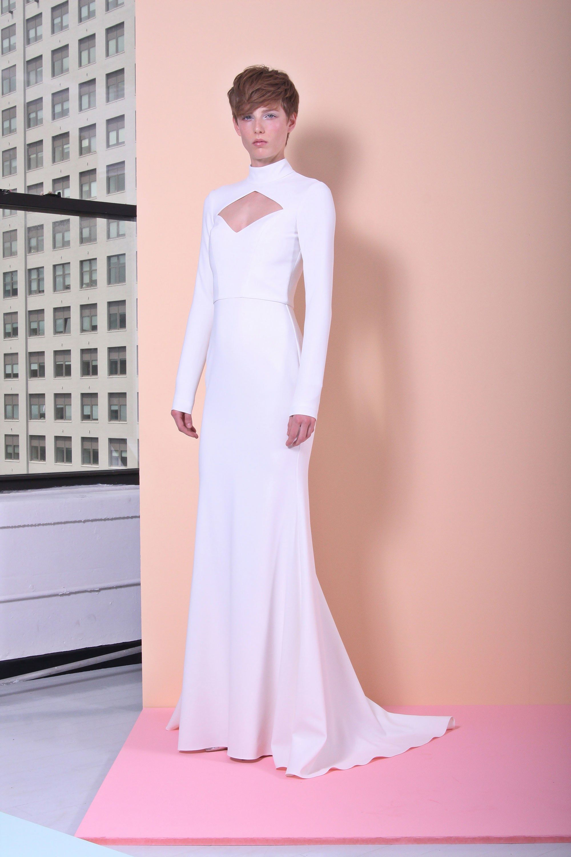 Samira wiley wedding dress  Christian Siriano Resort  Fashion Show  Christian siriano