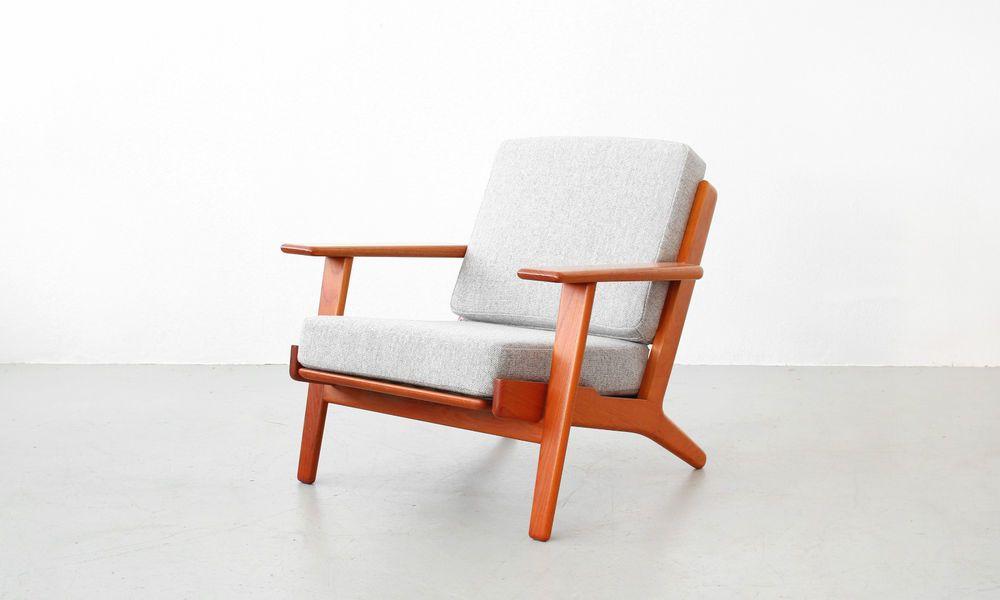 Hans J. Wegner Lounge Easy Chair Getama GE 290 Teak Denmark Danish Modern Design