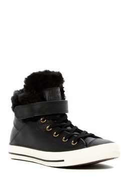 3c4c783908da Chuck Taylor All Star Faux Fur Lined Leather High-Top Sneaker (Women ...