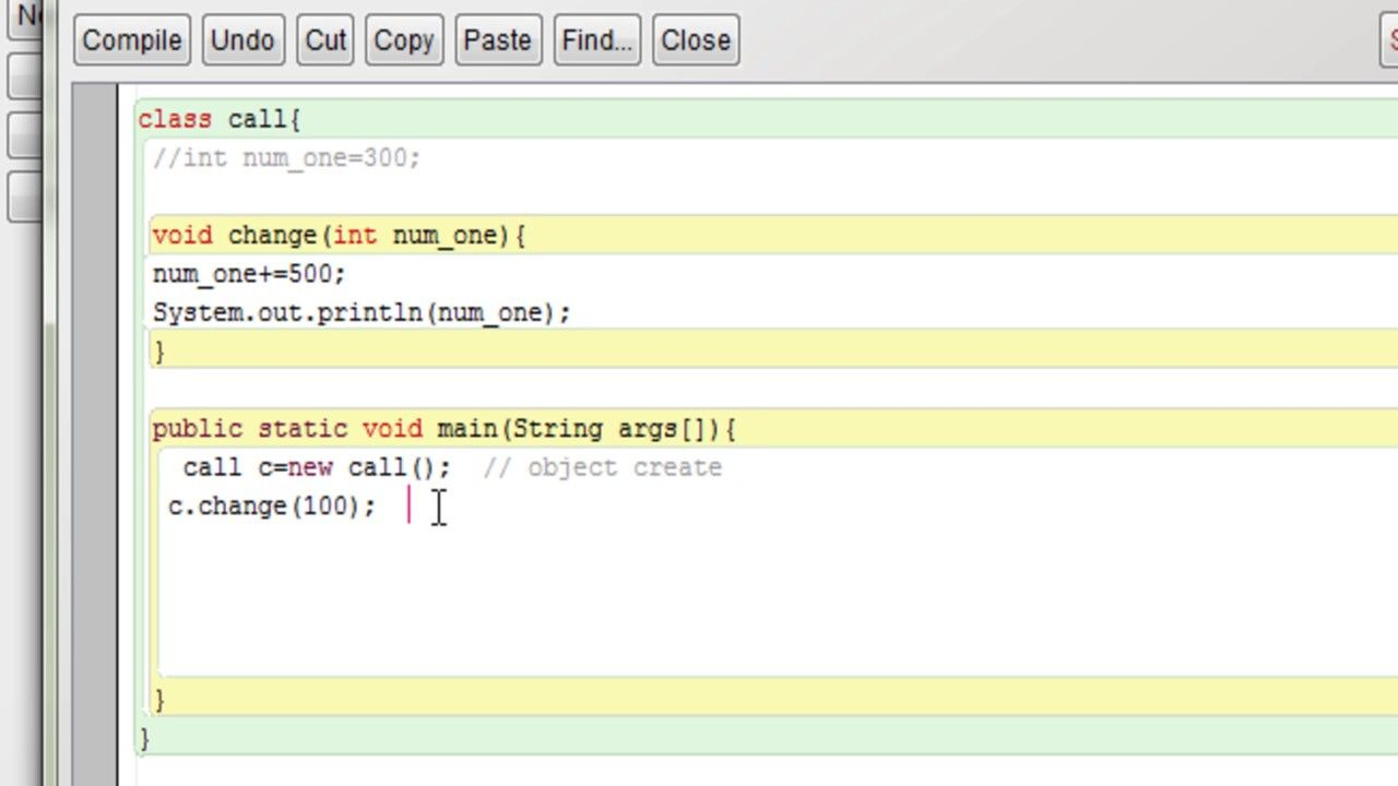 Example of call by value in java tutorial
