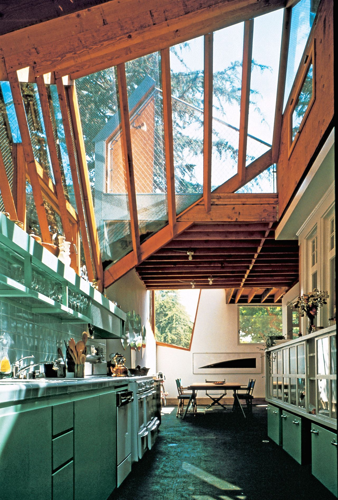 frank gehry pinned by kitchen studio