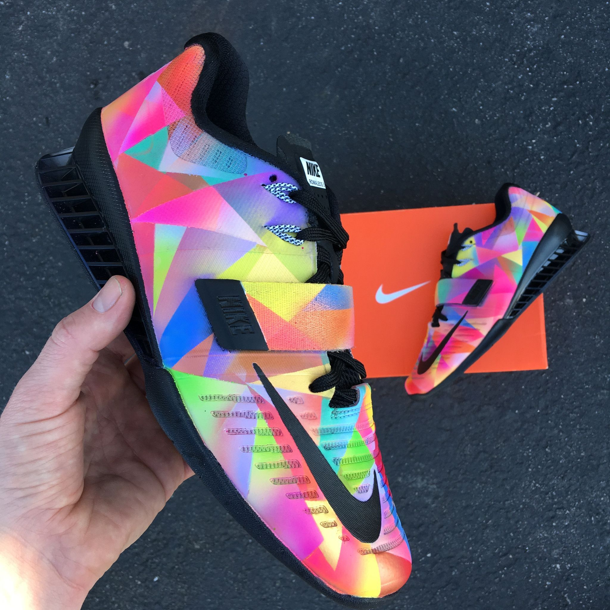 964862304e6 Nike Romaleos 3  Prism  Custom Painted Weightlifting Shoes