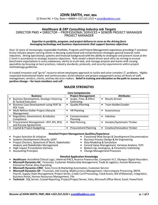 A Professional Resume Template For A Health Care Consultant Want