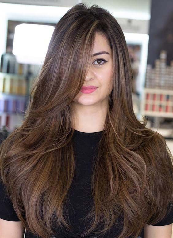 54 Straight Hairstyle Ideas That Are Becoming Girls Trend Nowadays Long Straight Layered Hair Straight Layered Hair Long Thick Hair