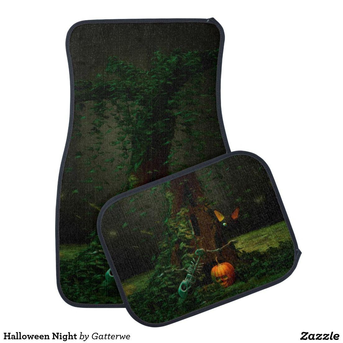 Halloween Night Floor Mat,Artwork designed by Gatterwe