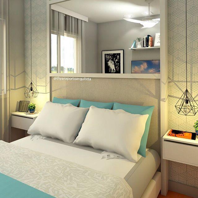 Outro ângulo desse quarto. E aí gostaram?  #quarto #quartodecasal #bedroom #quartodecorado #bythyaraporto #grupojsmais #grupomaisvisao #arquiteteidecorei