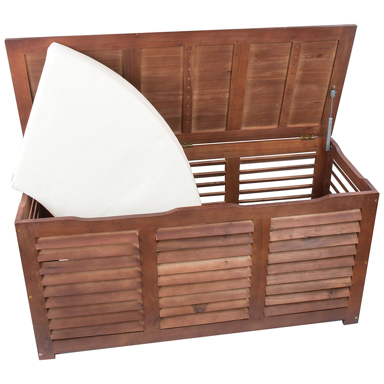 Amazonde Garten Kissenbox Holz 1tlg Kissenbox Holzoptik
