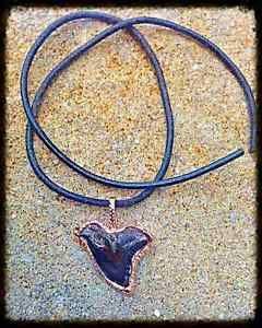 Handmade Shark Tooth Fossil Rose Gold Pendant, Tusk Biker Love LA Fashion  | eBay