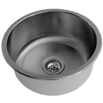 Acri Tec   Stainless Steel Round Bar Sink, Single Bowl   240006   Home