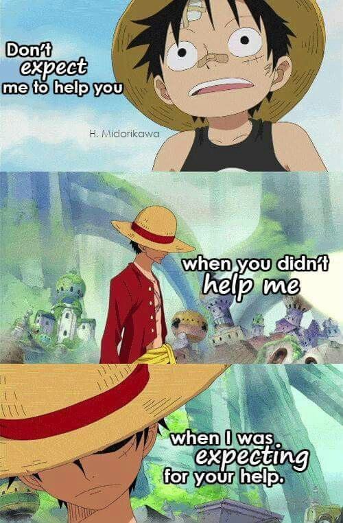 Bored of only using paint in your home? Anime quotes | Manga anime one piece, One piece quotes ...