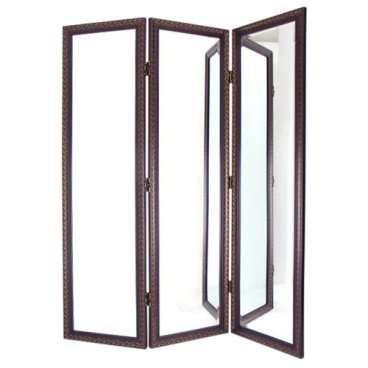 Gold Scroll Mirror 3 Panel Room Divider Interior Room Dividers At Iroom Dividers