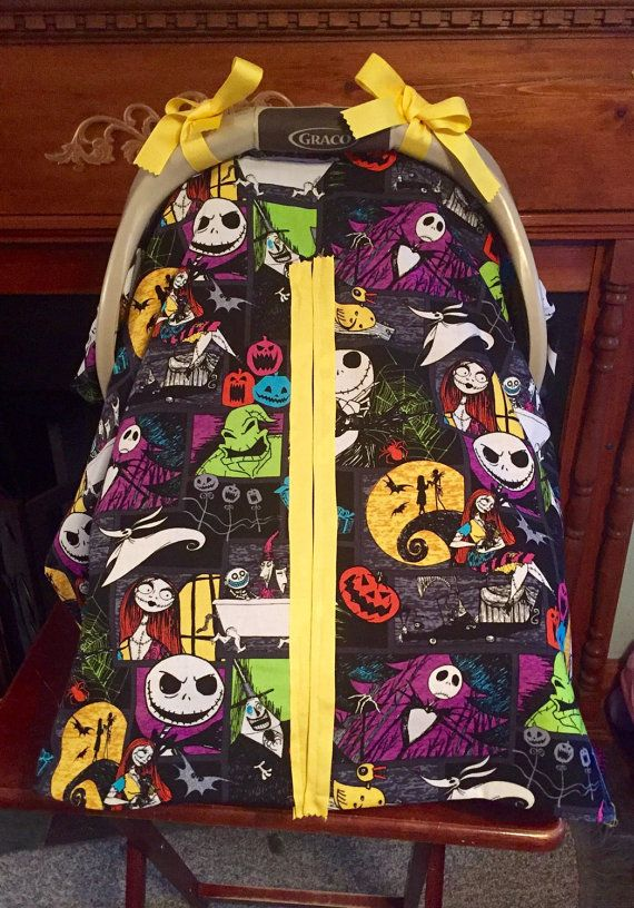 Handmade Nightmare Before Christmas Baby Car Seat By