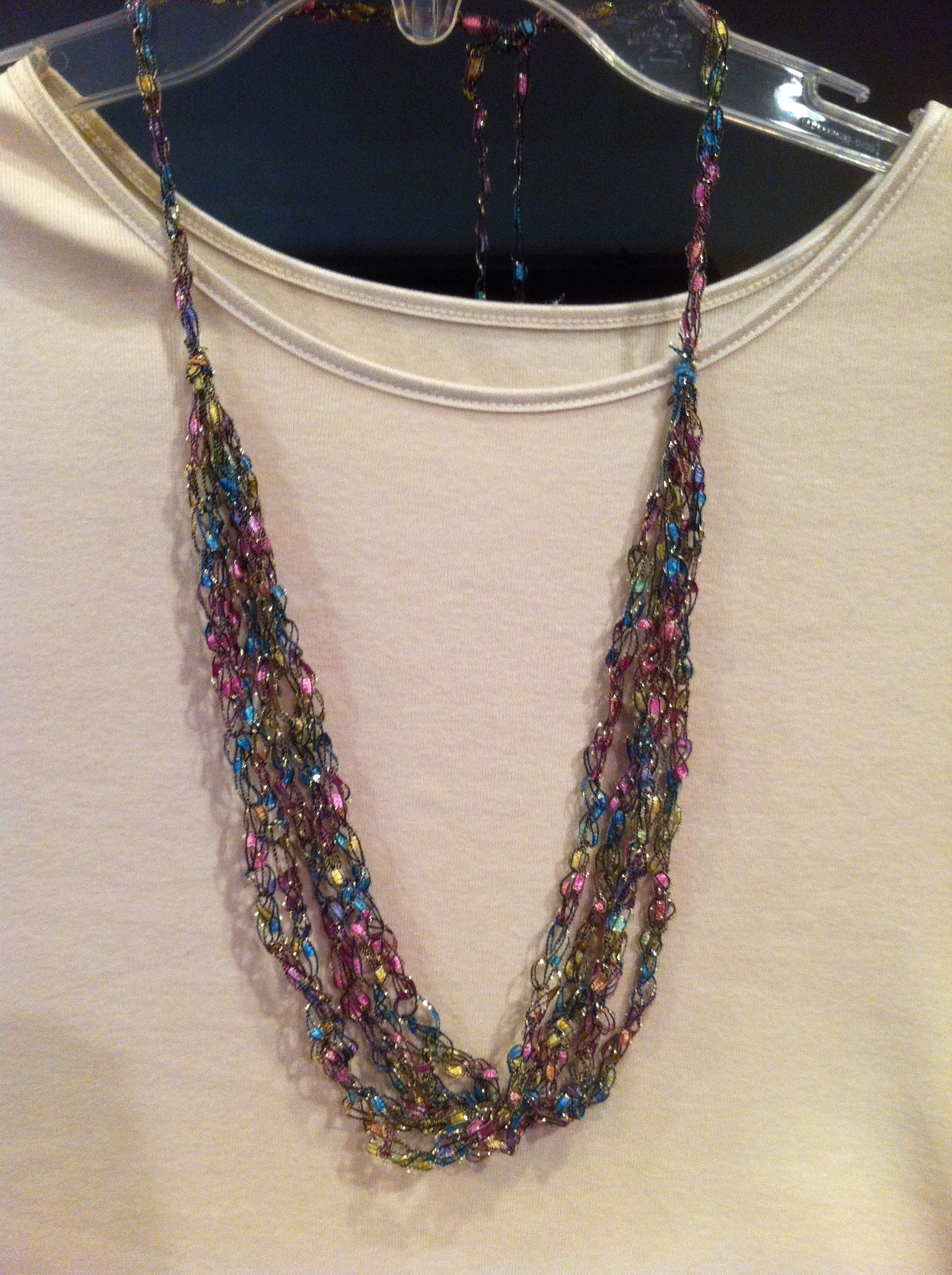 Ladder Yarn Necklace Ladder Yarn Projects Pinterest Yarns