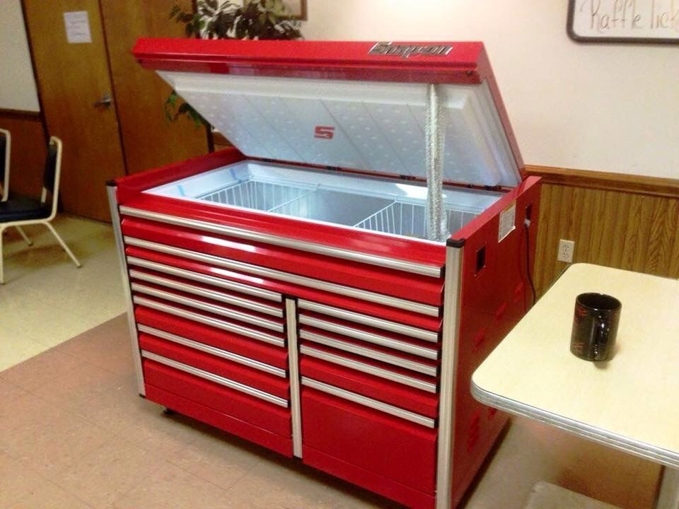 Snap On Tool Chest Freezer Man Cave Inspiration