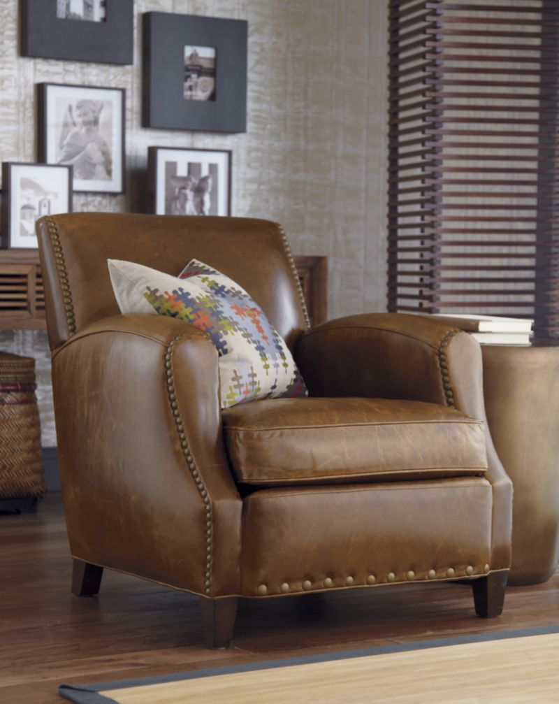 Metropole Leather Chair In Chairs Crate And Barrel For