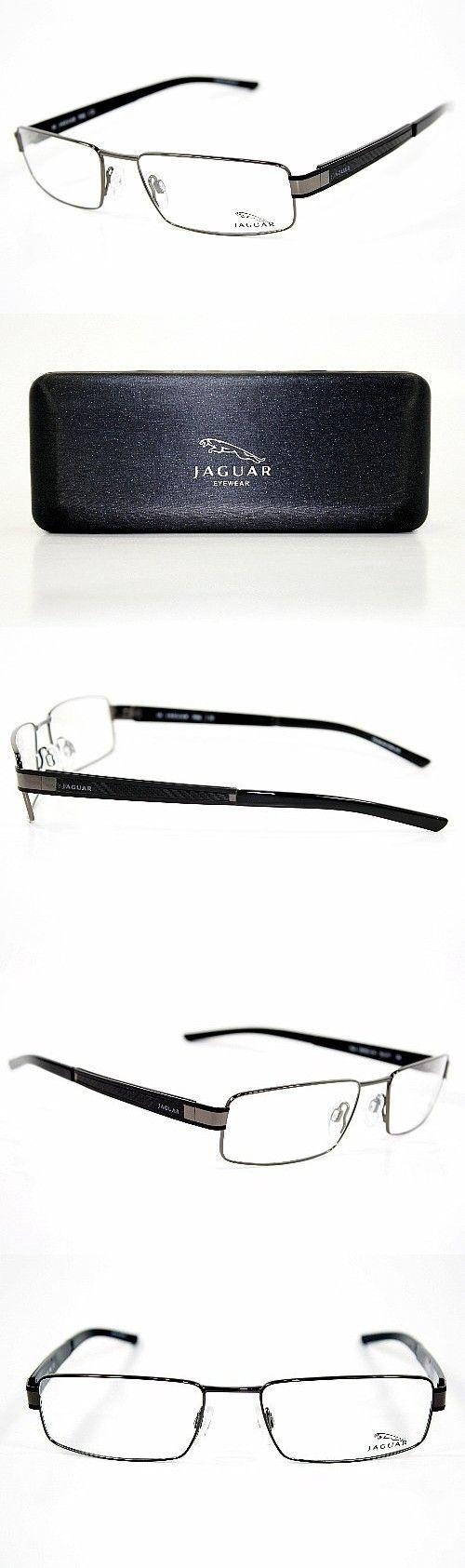 4b79f0ae6f JAGUAR Men s Eyeglasses 33530 610 Black Gunmetal Full Rim Optical Frame 55mm