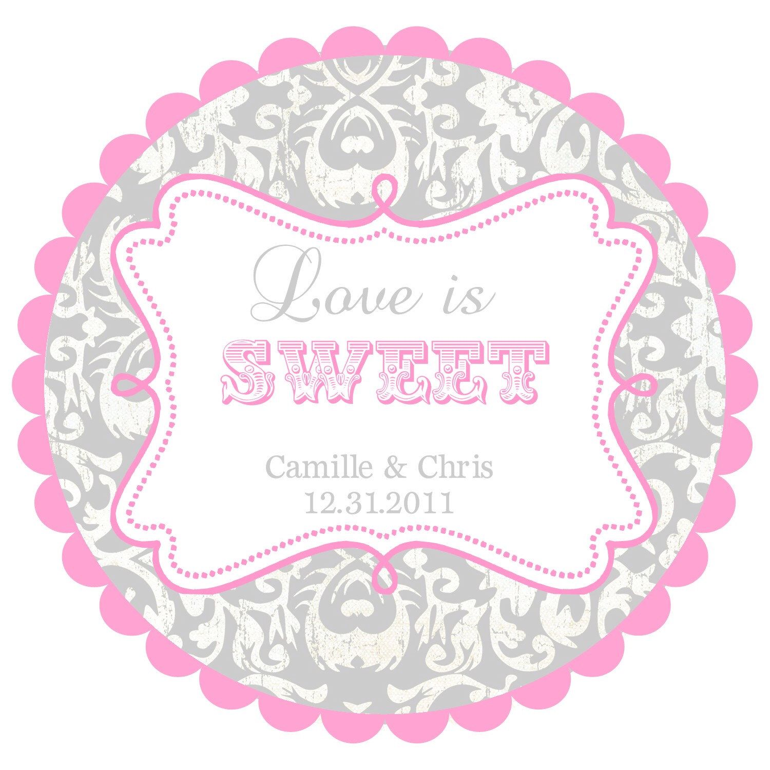 Love is Sweet- Wedding Labels- Round Labels Stickers for Wedding ...
