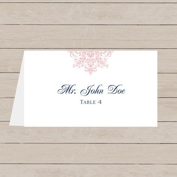 Spring Filigree Place Card DIY Editable & Printable in ...