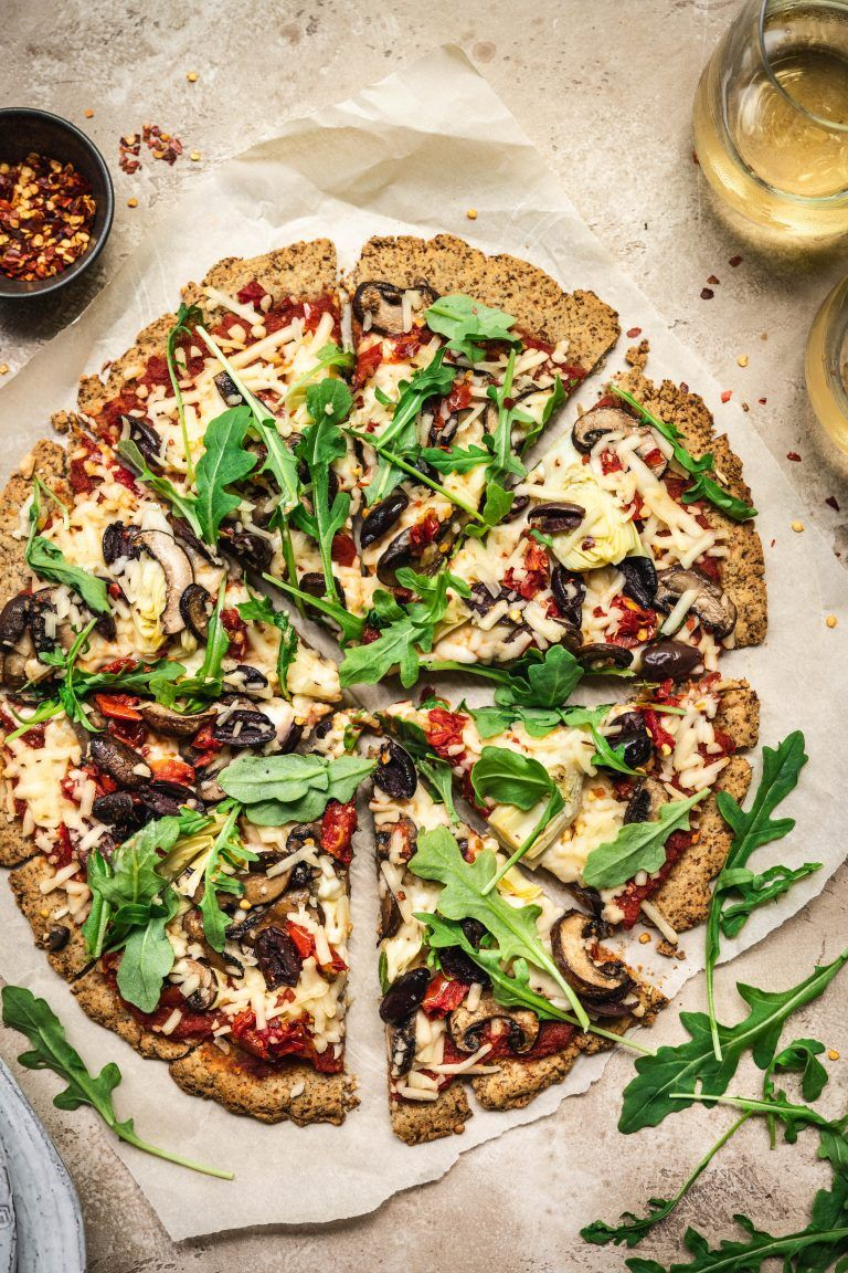 Crispy Cauliflower Vegan Pizza Crust | Crowded Kitchen