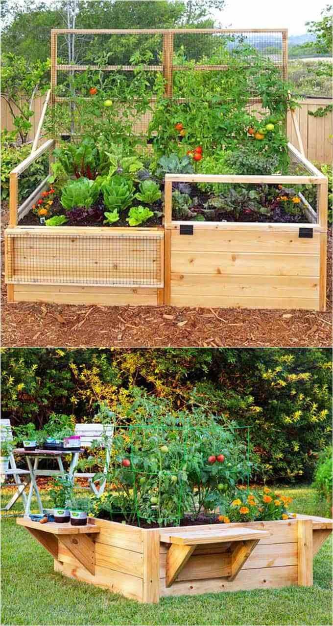 46 Simple Raised Vegetable Garden Bed Ideas 2020 Vegetable Garden Raised Beds Garden Layout Home Vegetable Garden