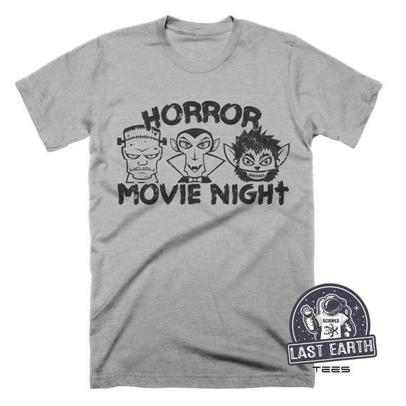 dc3c5ee7a6c6 On Sale Horror Movie T Shirt Vintage Halloween Shirt Frankenstein Shirt  Dracula Shirt Werewolf Shirt