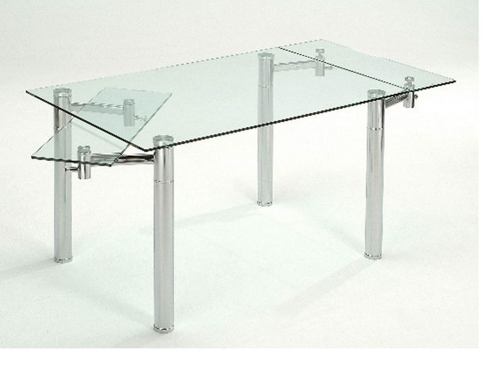 Northern Passages Extendable Glass Dining Table Dining Table Extendable Dining Table